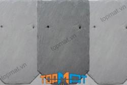 Đá slate đen Lai Châu lợp mái hình mũi cung 15x25x(0.2-0.4)cm