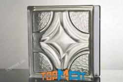 Gạch kính trong hoạ tiết pha lê - GK15