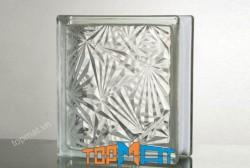 Gạch kính trong hoạ tiết hoa tuyết - GK18