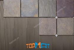 Đá slate đa sắc lát nền 20x20x(1-1.2)cm