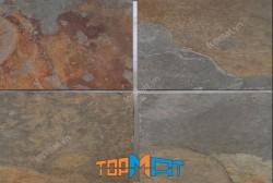 Đá slate đa sắc ốp tường 20x30x(0.5-0.7)cm