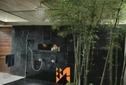 Ốp tường trang trí ấn tượng với đá slate Lai Châu