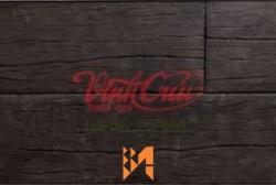 Gạch Vĩnh Cửu giả gỗ màu đen ốp tường VC40