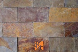 Đá slate đa sắc ốp tường 10x20x(0,5-0,7)cm