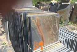 Đá slate đa sắc ốp tường 30x30x(0.5-0.7)cm