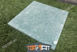 Đá xanh rêu băm trừ viền 40x40x2 cm