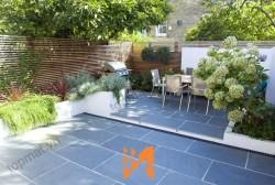 Ý tưởng trang trí sân vườn độc đáo có một không hai với đá đen Thanh Hóa