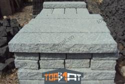 Đá cubic granite cột rào màu xám 8x20x100cm