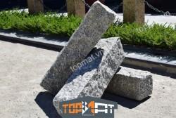 Đá cubic granite cột rào màu xám 12x12x50cm