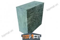 Đá cubic xanh rêu băm mặt 10x10x5cm