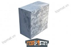 Đá cubic đen Thanh Hóa khò mặt 10x10x5cm