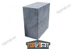 Đá cubic đen Thanh Hóa cắt thô 10x10x5cm