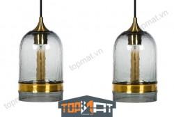 Đèn thả thủy tinh cao cấp CASAMOTION Golden Ring - Smoke