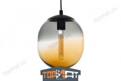 Đèn thả thủy tinh cao cấp CASAMOTION Lantern Ball Grey & Amber