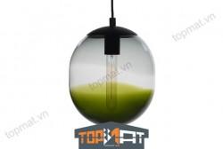 Đèn thả thủy tinh Lantern Ball Grey & Olive Green