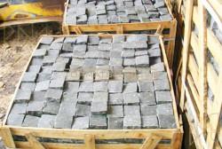 Đá cubic bazan xám 10x10x5cm