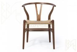 Ghế gỗ tự nhiên Wishbone đan dây