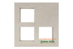 Gạch bông gió Danatiles D-012 trắng