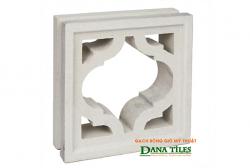 Gạch bông gió Danatiles D-013 trắng