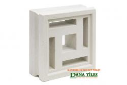 Gạch bông gió Danatiles D-03 trắng