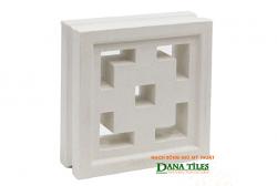 Gạch bông gió Danatiles D-08 trắng