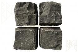 Đá cubic bazan đen chẻ tay 10x10x8 cm