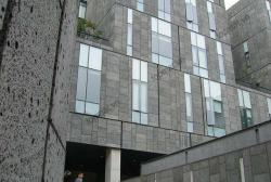 Không gian kiến trúc đậm chất nghệ thuật với đá ong đen ốp tường