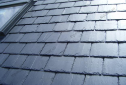 Đá slate đen Lai Châu lợp mái hình chữ nhật 20x30x(0.3-0.6)cm