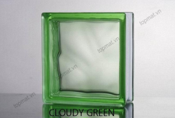 Gạch kính Cloudy Green – Trơn xanh lá 017