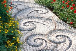Sỏi rải sân vườn - những ý tưởng độc đáo với đá sỏi trang trí sân vườn