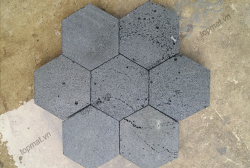 Đá ong xám hình lục giác