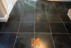 Đá slate đen Lai Châu 30x30x(1-1.5)cm