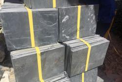 Đá slate đen vảy đồng Lai Châu 15x30x(1-1.2)cm