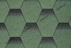 Ngói đá Bitum phủ đá tổ ong màu xanh lá Cana