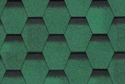 Ngói đá Bitum phủ đá BTM hình tổ ong màu xanh