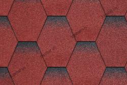 Ngói đá Bitum phủ đá tổ ong màu đỏ Cana
